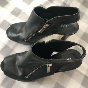 Franco Sarto Black Leather Booties